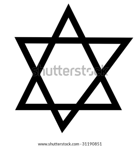 star of david on a white background