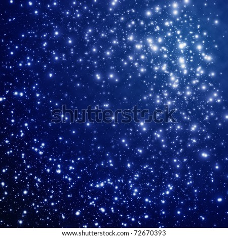 Star on sky at night - stock photo