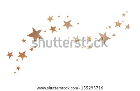 star shape , recycle paper sheet board isolated on white background, kid craft - stock photo