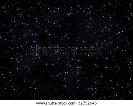 Star sky, bright stars on dark sky - stock photo