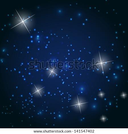 Star sky  illustration background - stock photo