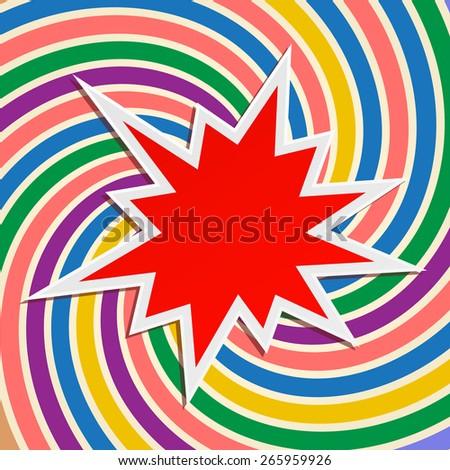 star splash festive abstract background design - stock photo