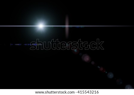 Star With Lens Flare - stock photo