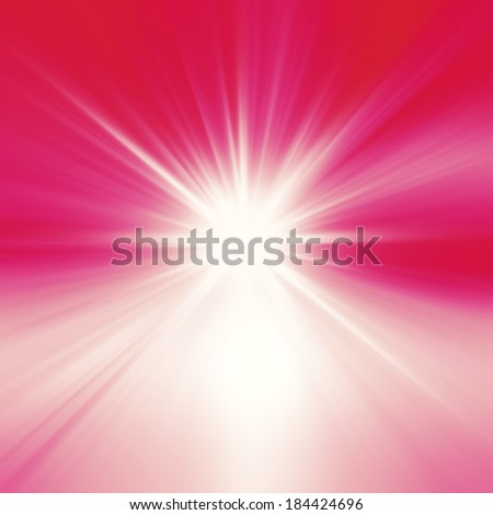 Starburst abstract red background - stock photo