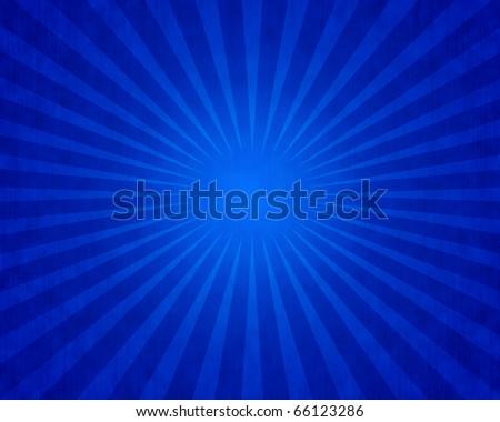 Starburst Background A raster illustration of a grunge blue starburst background. Horizontal. - stock photo