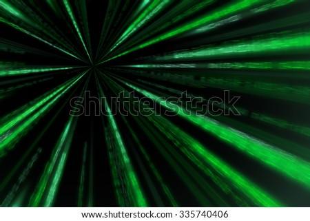 starburst matrix code on white background, with speed motion blur. - stock photo