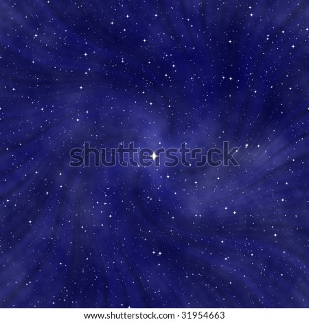 starry abstract cosmic background - stock photo