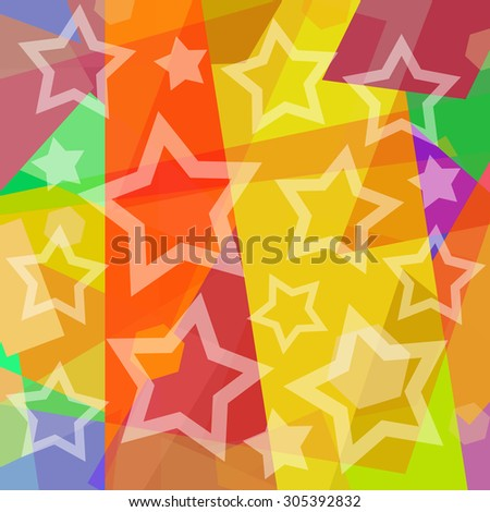Starry colorful background - stock photo