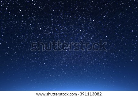 starry in the night sky ,abstract background - stock photo
