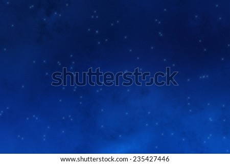 Starry night - Milky Way. - stock photo