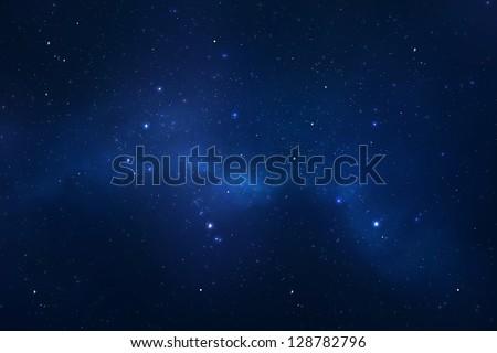 Starry night sky background - stock photo