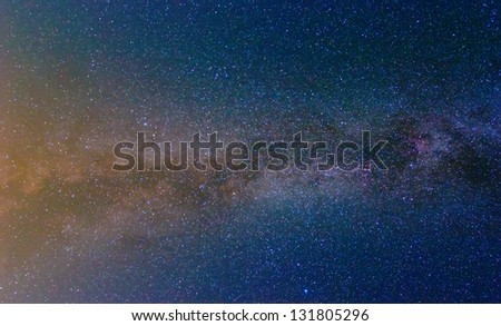 starry night sky background - stock photo
