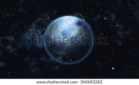 Starry outer space Earth  background texture