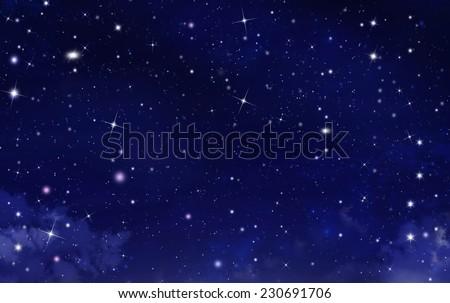 starry sky, background - stock photo