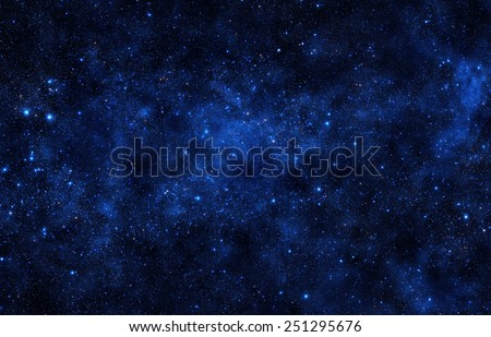 Starry Sky- Elements of this Image Furnished by NASA - stock photo