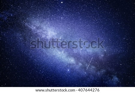 Starry sky with many stars on the space background. - stock photo
