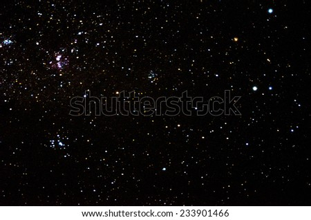 Stars and galaxy space sky background  - stock photo
