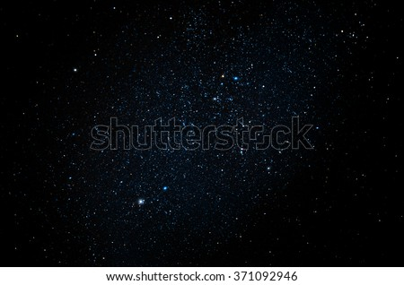 Stars and galaxy space sky night background - stock photo