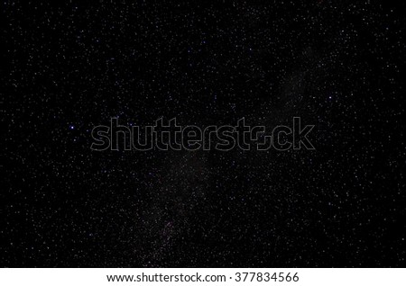 Stars and galaxy space sky night background, Africa, Kenya  - stock photo
