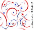 Stars and stripes background (seamless tile vector version also available) - stock photo