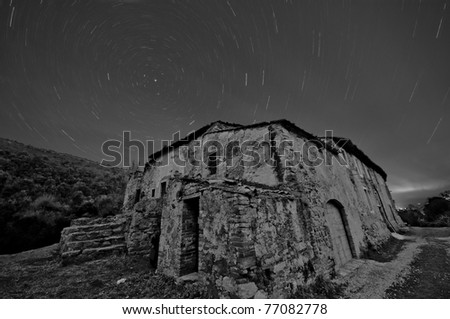 Stars circular movement. - stock photo