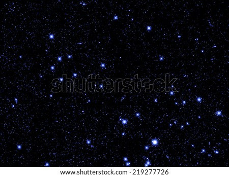 Stars cluster as seen through a telescope with long exposure.  - stock photo