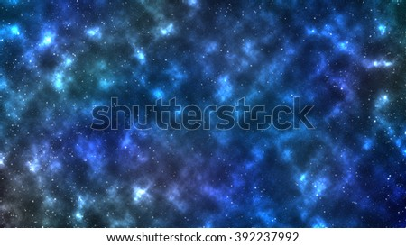 stars cluster.  The photograph is prepared using Gaussian noise distribution in image processing. - stock photo
