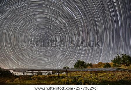 Stars exposure - stock photo