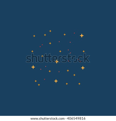 stars Flat icon on color background. Simple colorful pictogram