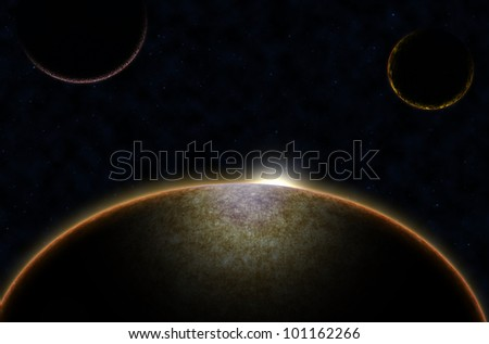 Stars in space galaxy