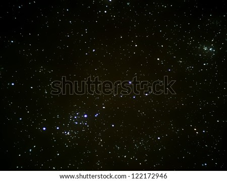 stars in space, real photography - stock photo