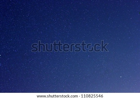 Stars in the constellation of Ursa Minor - Little Dipper - stock photo