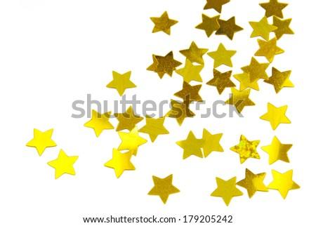stars  isolated on white - stock photo