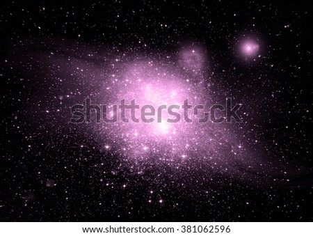 "Stars of a planet and galaxy in a free space ""Elements of this image furnished by NASA""."