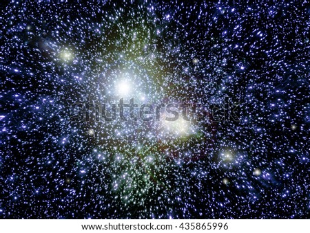 "Stars of a planet and galaxy in a free space. ""Elements of this image furnished by NASA""."