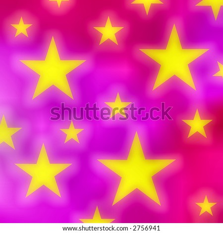 Stars on a pink background - stock photo