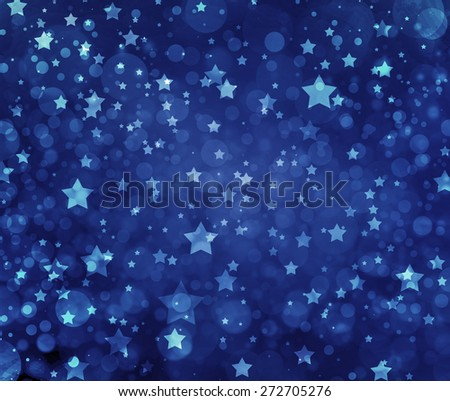 Stars on blue background. Navy blue background with white stars. Glittering stars at night. Stars shining in sky. - stock photo