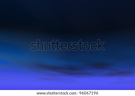 Stars on night sky - stock photo