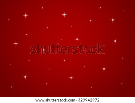 Stars on red background - stock photo
