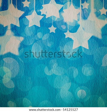 stars on the grunge paper, abstract background - stock photo