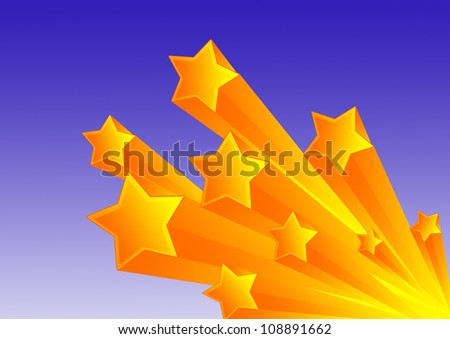 Stars Vector Background, Bold Background, Each star its own group