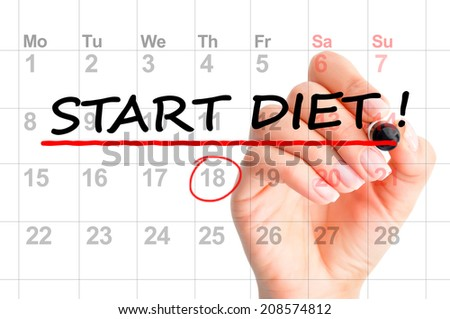 Start diet today text - stock photo