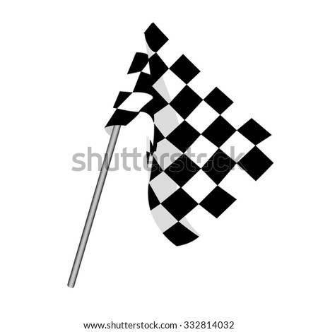 Start flag, checkered flag, finish flag, racing flag - stock photo