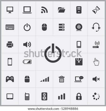 start icon. computer icons universal set for web and mobile