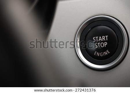 Start Stop Engine button  - stock photo