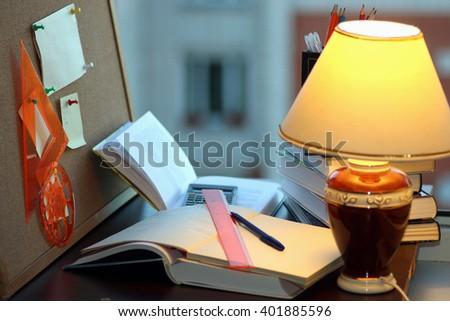 start studying homework - stock photo
