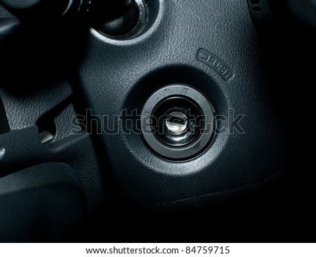 start the car - stock photo