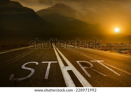 Start under the Sundown - stock photo
