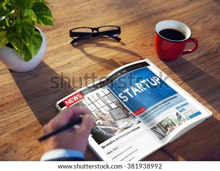 Start up New Business Vision Strategy Launch Concept - stock photo