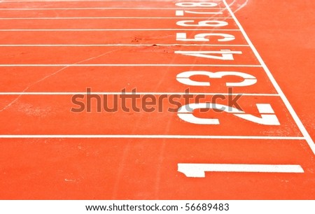 Starting Grid of Race Track in Stadium - stock photo